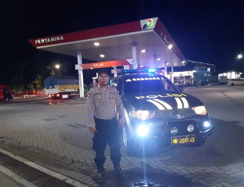 Cegah Aksi Kriminal, Polsek Sumberbaru Gelar Patroli Blue Light