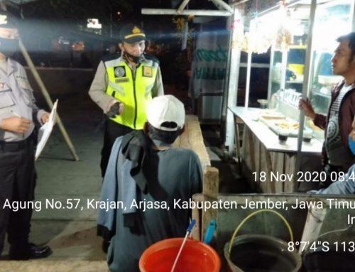 Kasus Positif Covid-19 Di Jember Meningkat, Polsek Arjasa Ingatkan Alarm Disiplin Prokes