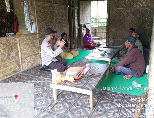 Dengarkan Keluhan Warga Desa Binaan, Polsek Jenggawah Giatkan Program DDS