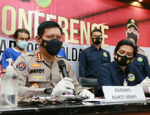 Pengedar Shabu Bersenjata Api Asal Jombang Ditangkap Ditresnarkoba Polda Jatim.