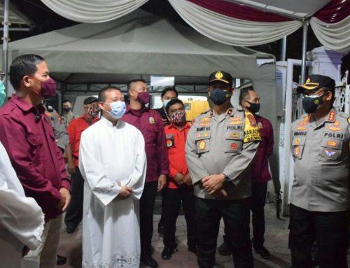 Wakapolda Cek Pengamanan Ibadah Jumat Agung & Persiapan Pengamanan Paskah di Sidoarjo, Berlangsung Aman dan Kondusif